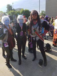 Ell, Vynni, and Keela, reunited